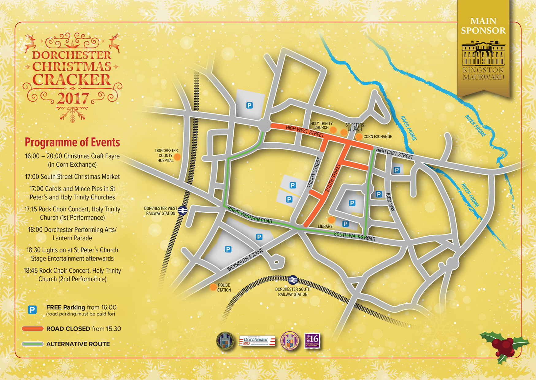 Dorchester christmas cracker 2017 dorchester chamber for business click on the map above for information on road closures solutioingenieria Image collections